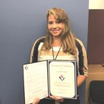 Kysha Ford was presented with an  Award of Excellence for her  continuous hard work.