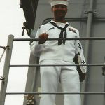 Charles Owens, aboard ship in 1999
