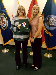 Kim Brown (L) and Team Lead, Kathy McKenzie at the VA  Acquisition Academy.