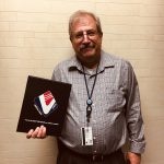 Bruce Luchen receives a  VMSI Award of Excellence.