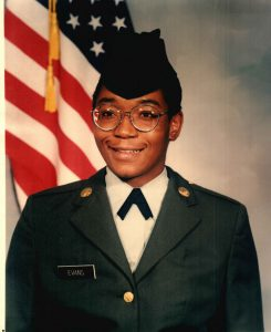 Christine Mason, while serving in the US Army.