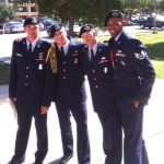 Jeremy Morris, while serving in the U.S. Air Force (second from left).