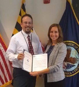 Christina Stevenson receives an Award of Excellence