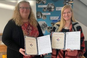 Kirsten Keen and Veronica Scoggins  with their Awards of Excellence.